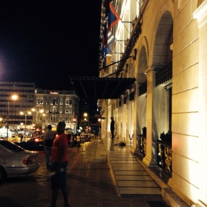 Our last night in Athens just outside the King George