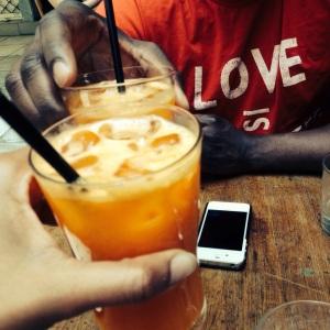 Carrot Juice at Mama Roux