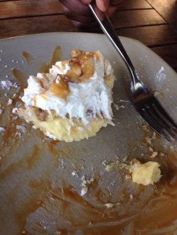 complimentary banana cream pie