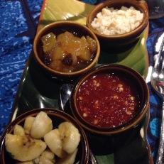 chutneys for fish curry - mmmm