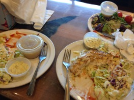 Two charbroiled fish plates